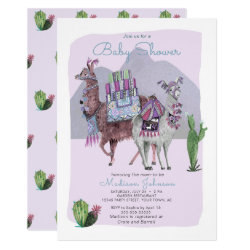 Baby Shower | Llamas & Cactus | Lilac Invitations