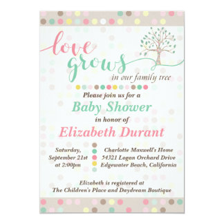 Baby Shower Love Grows In Our Family Tree Pastel Card