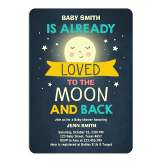 Baby Shower Love You to the Moon and Back Stars Card
