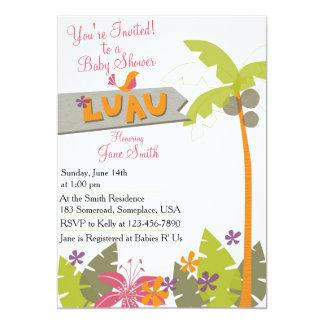 Baby Shower Luau 5x7 Paper Invitation Card