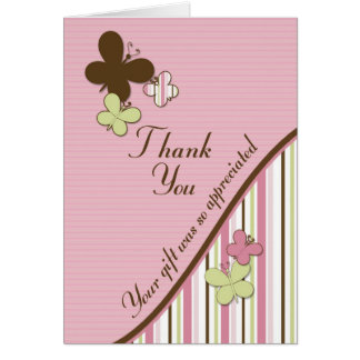 Baby Shower Matching Thank You Card
