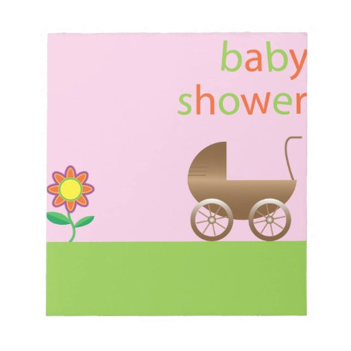 Baby Shower Memo Notepads Zazzle