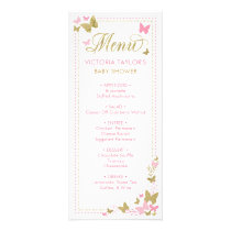 Baby Shower Menu with Butterflies
