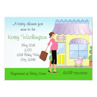 Baby Shower Mod Mom Boutique Shopper Invitation