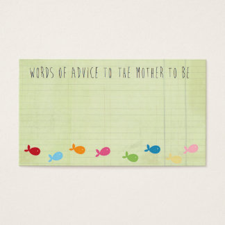 Baby Shower Mommy Advice Card Business Card
