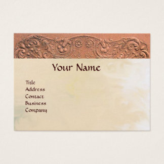 BABY SHOWER MONOGRAM pink pearl paper Business Card