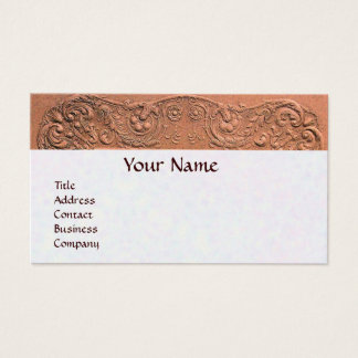 BABY SHOWER MONOGRAM pink white pearl paper Business Card