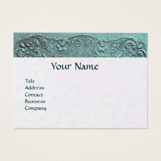 BABY SHOWER MONOGRAM White pearl paper Business Card