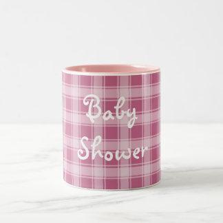 Baby Shower mug in pink & white