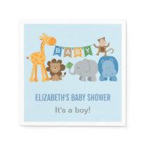 Baby Shower Napkins | Jungle Animals