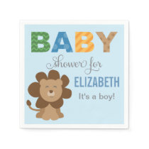 Baby Shower Napkins | Lion Jungle Animal
