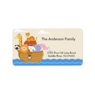 Baby Shower Noah's Ark address Label