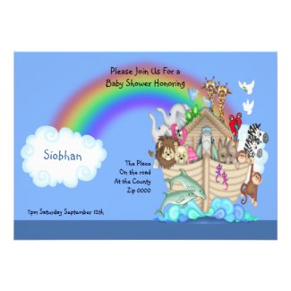 Baby Shower Noahs Ark Personalized Announcements