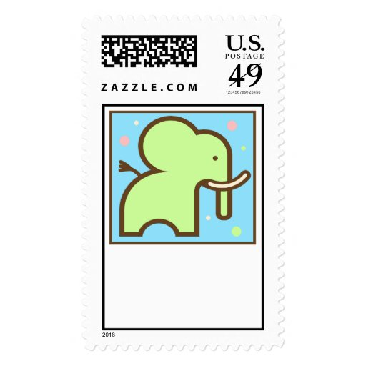 Baby Shower or Birth Announcement Stamp