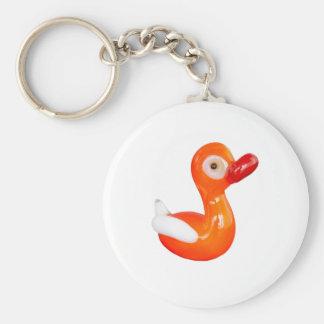 Baby Shower Orange duckling Keychain