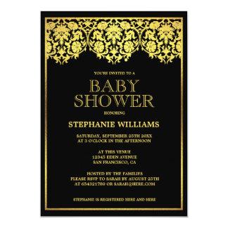 Baby Shower | Ornate Gold Art Deco Damasks Card