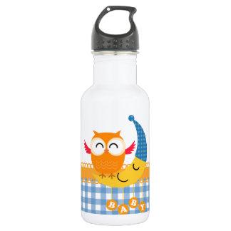 Baby Shower Owl Water Bottle