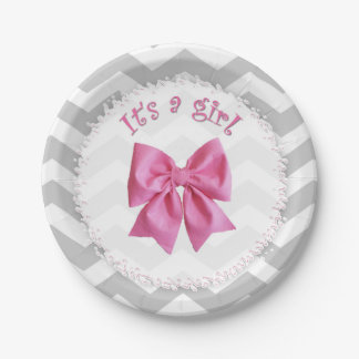 baby shower paper plates that say it 39 s a girl