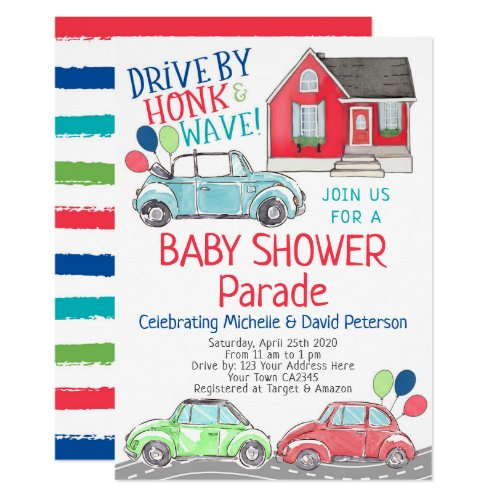 Baby Shower Parade Invitation
