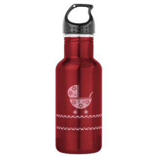 Baby Shower Party Pink Blossoms Girly Mother Stainless Steel Water Bottle