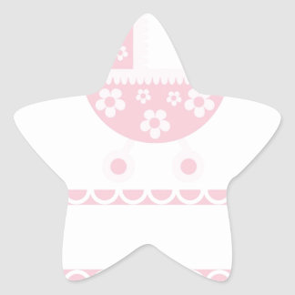 Baby Shower Party Pink Blossoms Girly Mother Star Sticker