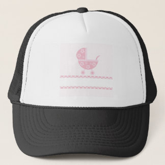 Baby Shower Party Pink Blossoms Girly Mother Trucker Hat