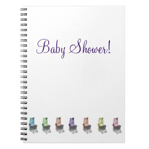 baby shower party planning notebook
