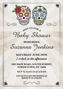 Sugar Skull Invitations Zazzle