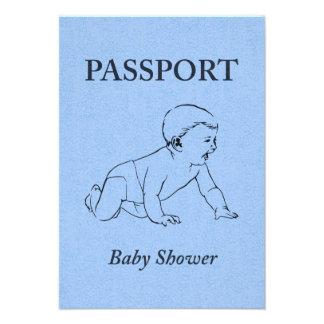baby shower passport custom invites