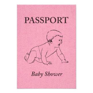 baby shower passport personalized invite