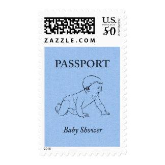 Baby Shower Passport Postage