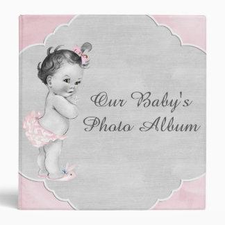 Baby Shower Pastel Pink Vintage Little Girl Binder