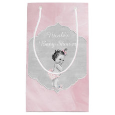 Baby Shower Pastel Pink Vintage Little Girl Small Gift Bag
