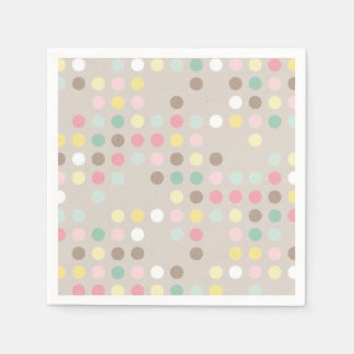 Baby Shower Pastel Polka Dot Napkin