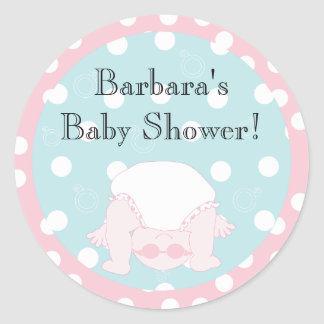 "Baby Shower ""Peek-a-Boo"" Stickers 1 1/2"" or 3"""