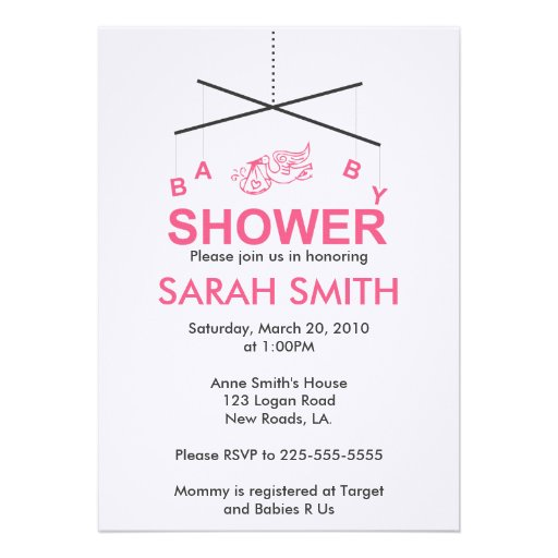 baby shower personalized invitations zazzle
