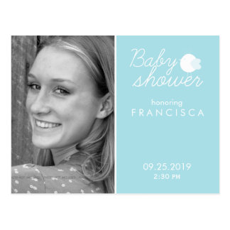 Baby Shower Photo Invitations Postcards for Boy
