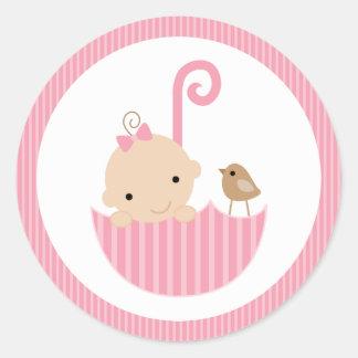 {baby Shower} Pink Baby Shower Sticker
