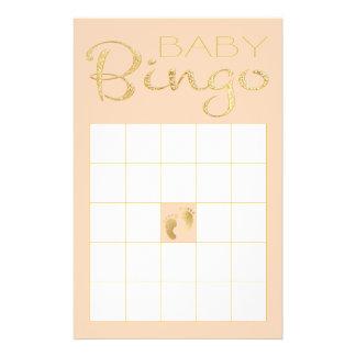 "Baby Shower Pink BINGO ""Gold/Pink Classic"" Flyer"