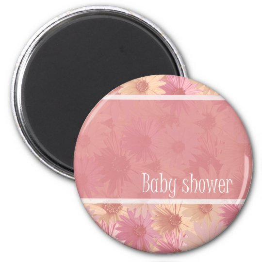 baby shower ~ pink daisies magnet