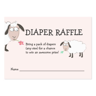 Baby Shower, Pink Diaper Raffle Large Business Card