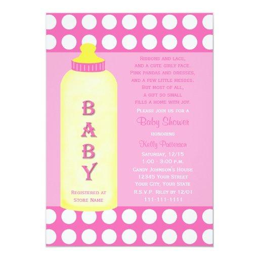 baby shower poem invitation baby girl zazzle