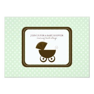 Baby Shower Polka Dots Invitations {MInt Green}