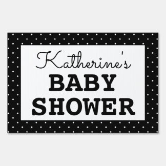 Baby Shower Polka Dots Sign