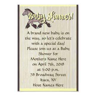 Baby Shower Pony Card