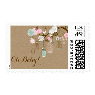 Baby Shower Postage - Hanging Cages & Jars Stamps