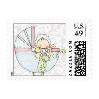 Baby Shower Postage Stamp -sm