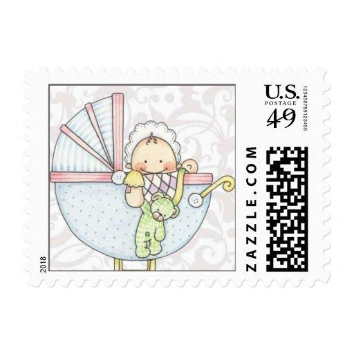 baby shower postage stamp sm zazzle