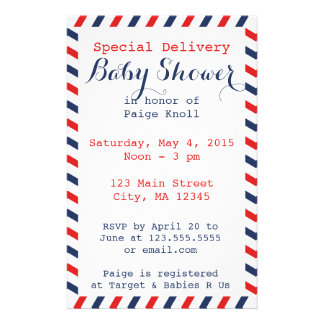 Baby Shower Postal Service Stationery