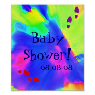 """""""Baby Shower"""" Poster - Customizable Print"""